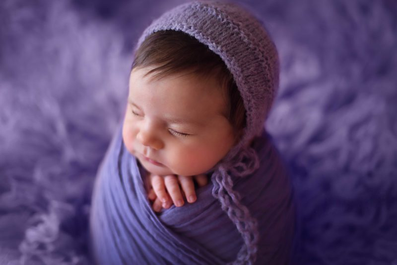 born baby in pink, Lifetime Stories Photography, Victoria Burcusel, girl, Rochedale South photographer, toddler photography, baby photographer Brisbane, best baby photographer Brisbane, family photographer Brisbane, children photographer Brisbane, newborn baby in purple, purple hat babies,